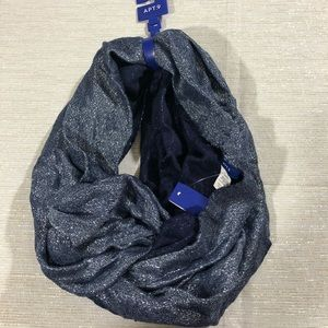 Apt 9 blue and silver sparkle infinity scarf - NWT